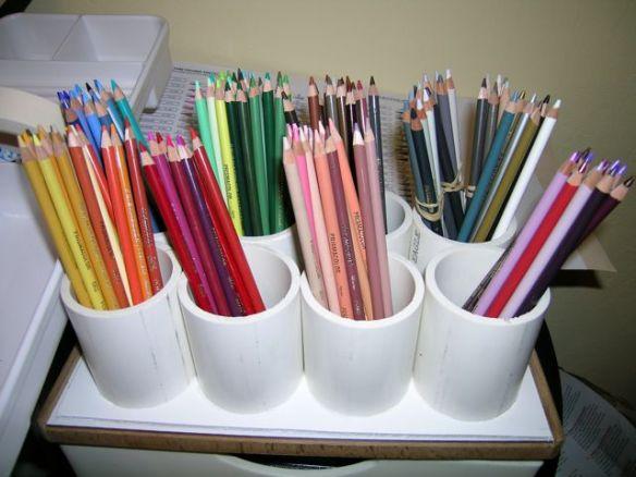 organizing a large set of colored pencils denise j. Black Bedroom Furniture Sets. Home Design Ideas