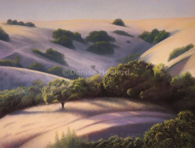 """San Benito Hills #1"", 19""x25"", pastels on Mi Teintes paper."