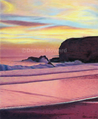 """Winter Santa Cruz Sunset"", accepted into 12th Annual UKCPS Open International Exhibition."