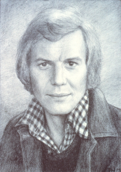 My portrait of Hutch (David Soul) that I drew at age 15 on awful drawing paper.