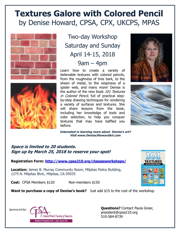 DHoward April 2018 workshop flyer