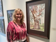 """My """"Tree of Renewal"""" in the Salon at the Triton"""