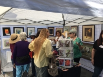 Our CPSA chapter's booth at the Livermore ArtWalk was very popular